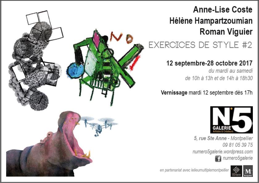 N°5_GALERIE_exposition_Dessin_Annelise_Coste_Helene_Hampartzoumian_Roman_Viguier_artistes_contemporains_Montpellier_2017
