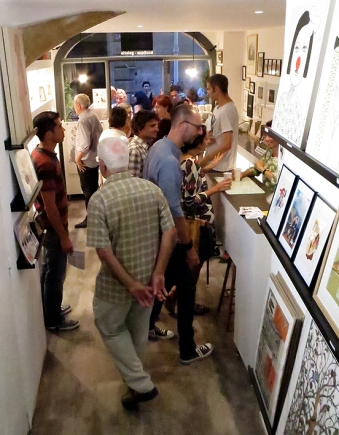 n5galerie_exposition_exercices-de-style_gilles-bingisser_clea-lala_dominique-lonchampt_montpellier_dessin-contemporain_vernissage_7