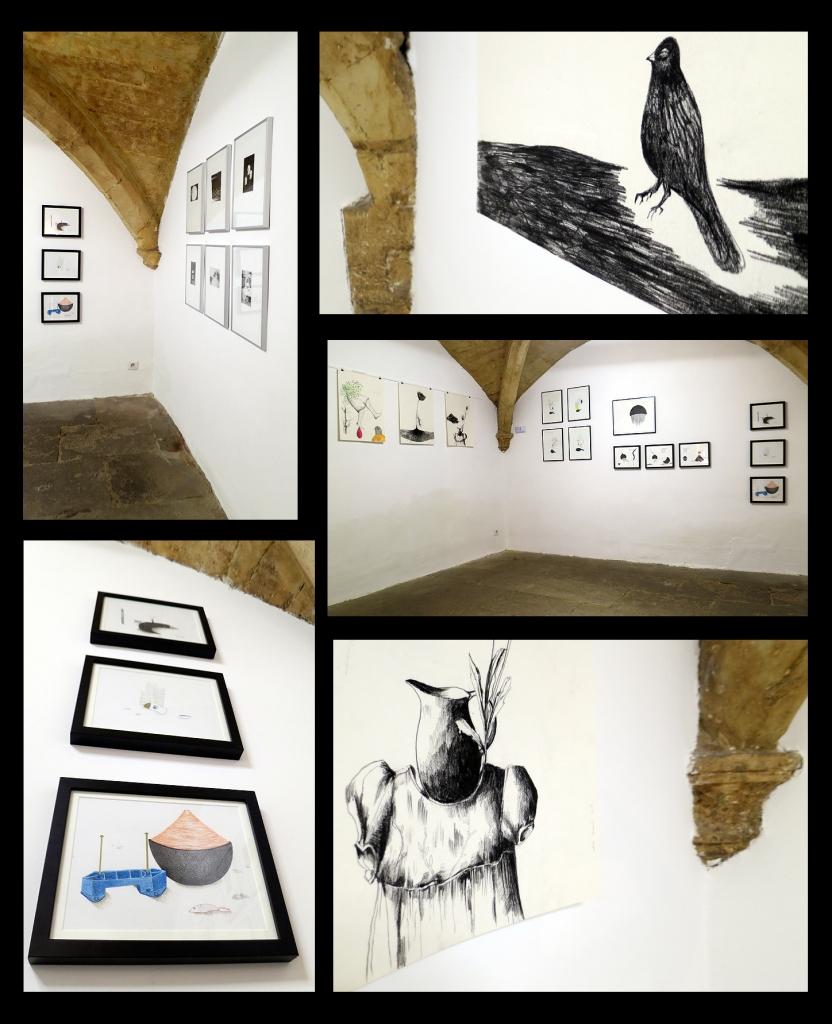 N°5 GALERIE - 5 rue Sainte Anne - 34000 Montpellier - Exposition autour du dessin et de la gravure - Estelle Lacombe - Chloe Viton - Laurence Briat