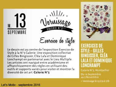 """Expo 4 """"Exercices de style"""""""