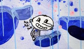 N°5 GALERIE - exposition artiste et créateur - peinture partagée - Yann Dumoget - performance - art contemporain - Montpellier - mai 2016 - 10