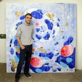 N°5 GALERIE - exposition artiste et créateur - peinture partagée - Yann Dumoget - performance - art contemporain - Montpellier - mai 2016 - 12