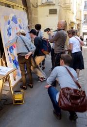 N°5 GALERIE - exposition artiste et créateur - peinture partagée - Yann Dumoget - performance - art contemporain - Montpellier - mai 2016 - 3