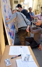 N°5 GALERIE - exposition artiste et créateur - peinture partagée - Yann Dumoget - performance - art contemporain - Montpellier - mai 2016 - 4