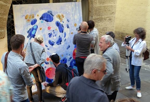 N°5 GALERIE - exposition artiste et créateur - peinture partagée - Yann Dumoget - performance - art contemporain - Montpellier - mai 2016 - 5
