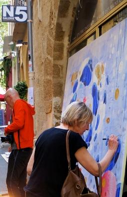 N°5 GALERIE - exposition artiste et créateur - peinture partagée - Yann Dumoget - performance - art contemporain - Montpellier - mai 2016 - 6