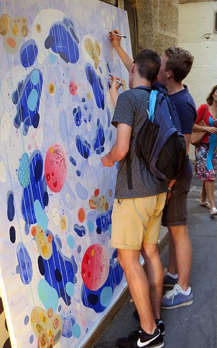 N°5 GALERIE - exposition artiste et créateur - peinture partagée - Yann Dumoget - performance - art contemporain - Montpellier - mai 2016 - 7