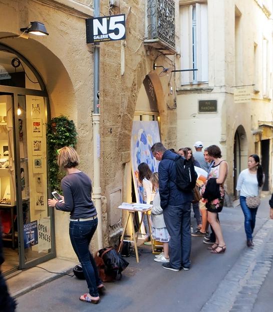 N°5 GALERIE - exposition artiste et créateur - peinture partagée - Yann Dumoget - performance - art contemporain - Montpellier - mai 2016 - 9