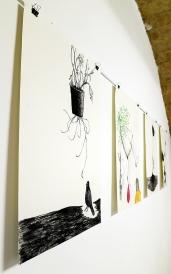 N°5 GALERIE - Estelle Lacombe - dessins à la pierre noire et techniques mixtes 2015