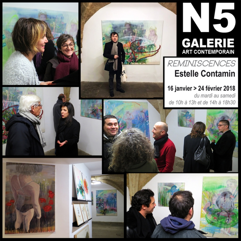 N5 galerie_exposition_peiture_Estelle Contamin_Reminiscences_vernissage_Montpellier_2018