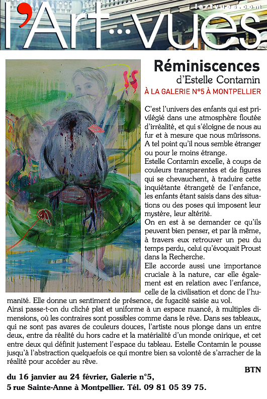 N5_galerie_exposition_peinture_Estelle Contamin_Reminiscences_art_contemporain_art_vues_presse_Montpellier_2018