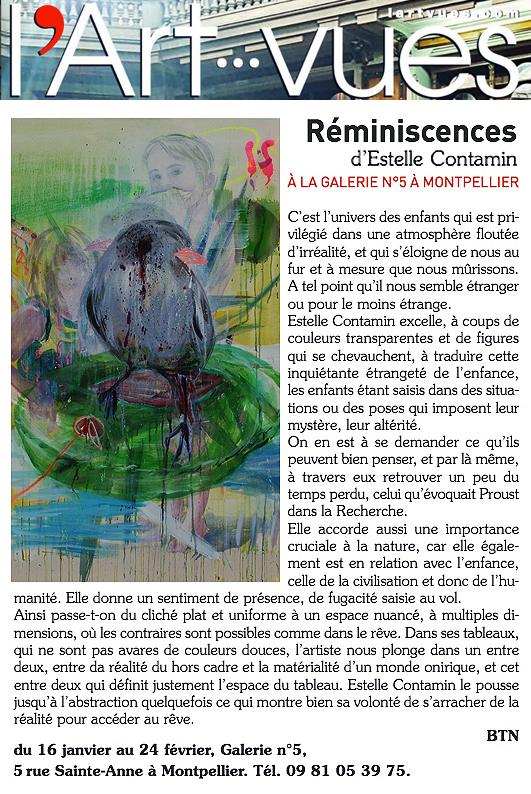 N5_galerie_exposition_peinture_Estelle Contamin_Reminiscences_art_contemporain_art_vues_presse_Montpellier_2018