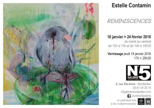 N°5_galerie_carton_exposition_Peinture_Reminiscences_Estelle_Contamin_Montpellier_2018