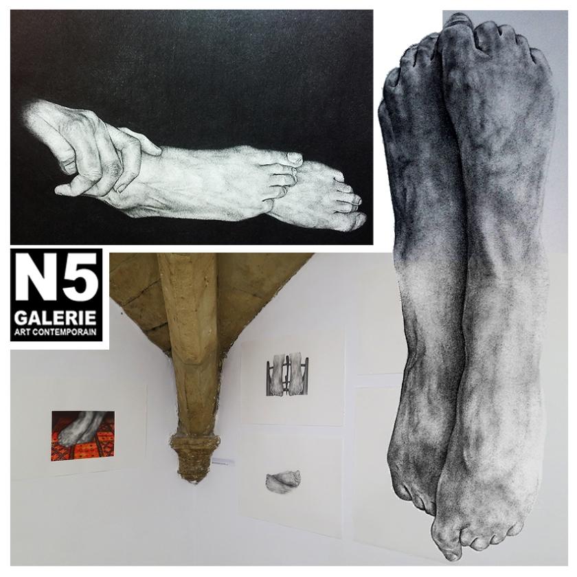 N5 galerie_Gisele Bonin_exposition_Anatomies_Dessin_Montpellier_mars_avril_2018