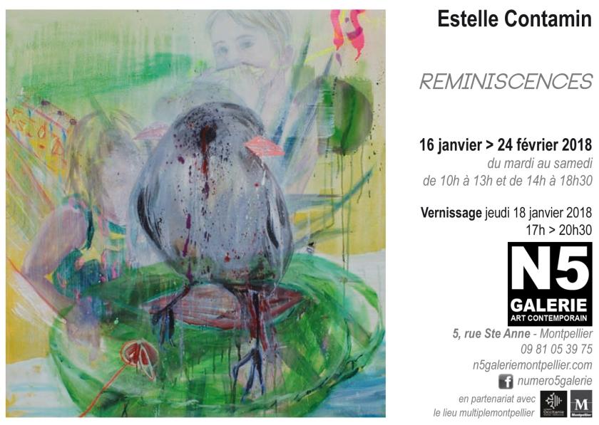 N°5_galerie_carton_exposition_Peinture_Reminiscences_Estelle_Contamin_Montpellier_janvier_2018.