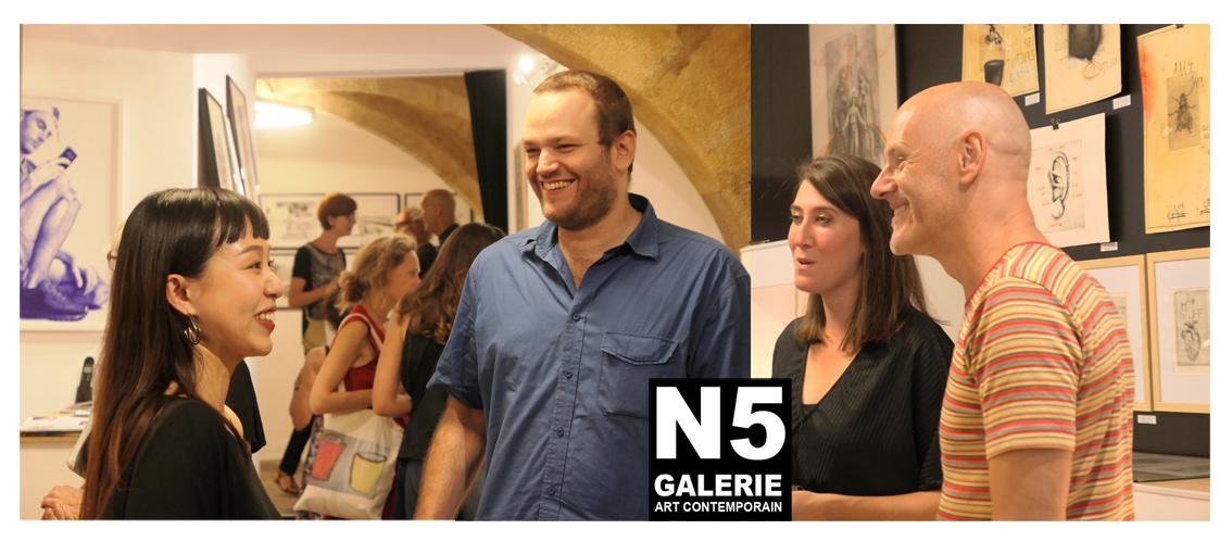 N5 galerie_exposition_dessin_Céline Marin_Maxime Parodi_Montpellier_2018_Venrnissage