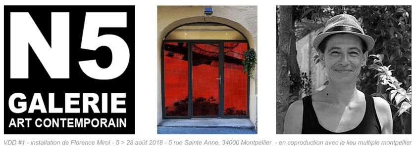 N5 galerie_exposition_Florence Mirol_installation artistique_Montpellier_VDD#1_2018