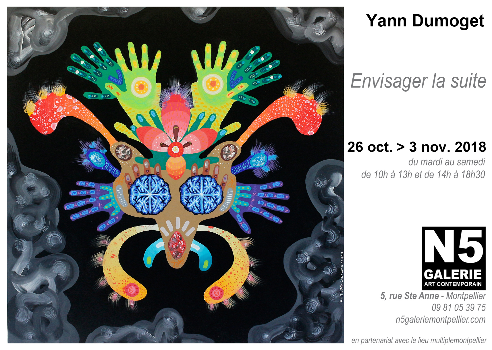 N5 galerie_exposition_Yann Dumoget_peinture_Montpellier_2018