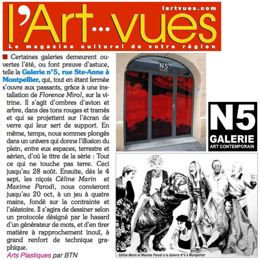 N5 galerie_exposition_presse_l art vues_Montpellier_2018_pub