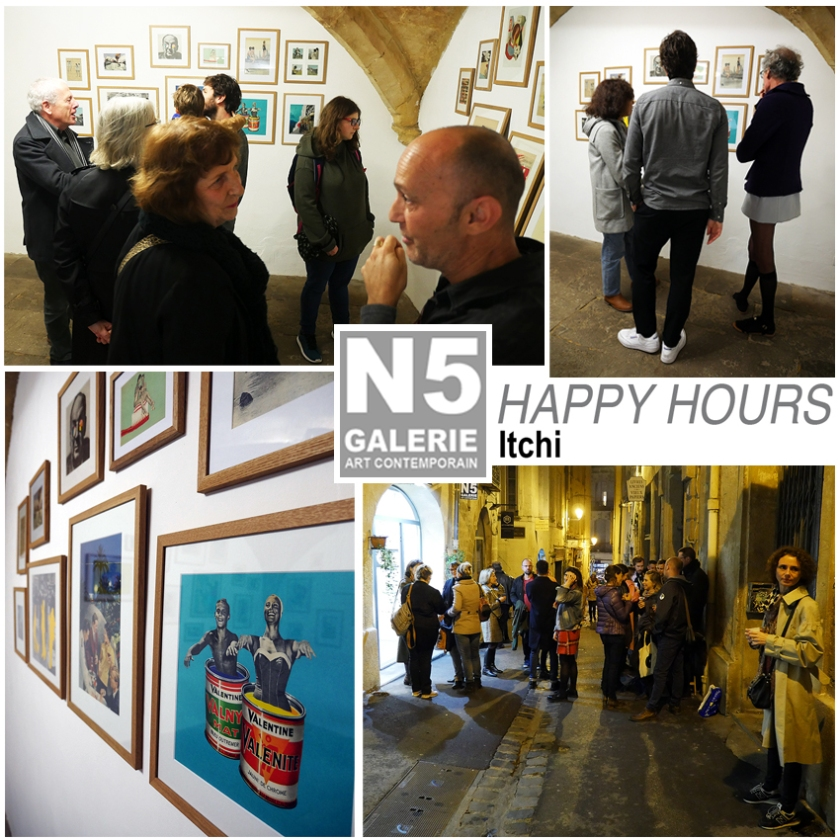N5 galerie_vernissage_exposition_collage_Happy Hours_Itchi_Montpellier_2018_1