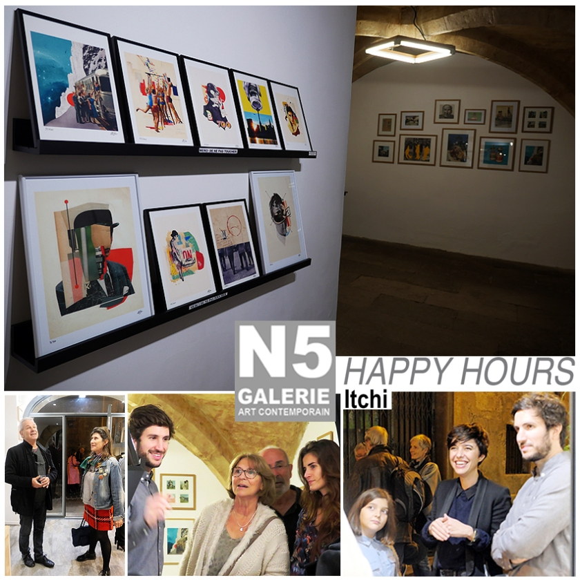 N5 galerie_vernissage_exposition_collage_Happy Hours_Itchi_Montpellier_2018_2
