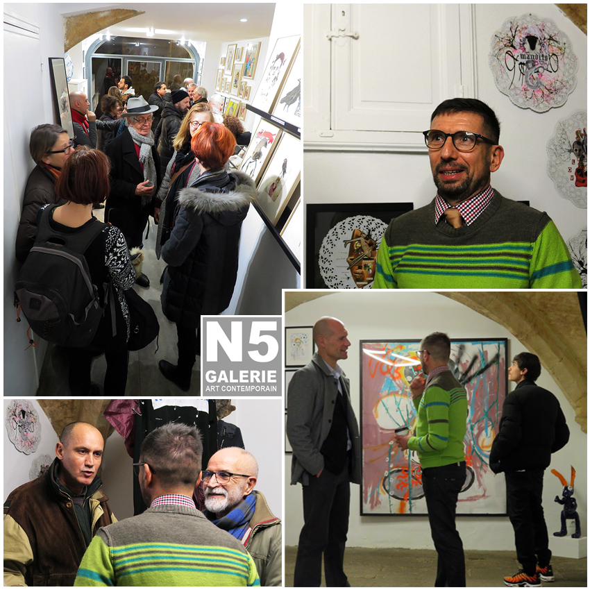 Vernissage-N5 galerie-exposition-NOWHERE-Denis Brun-Montpellier-2019