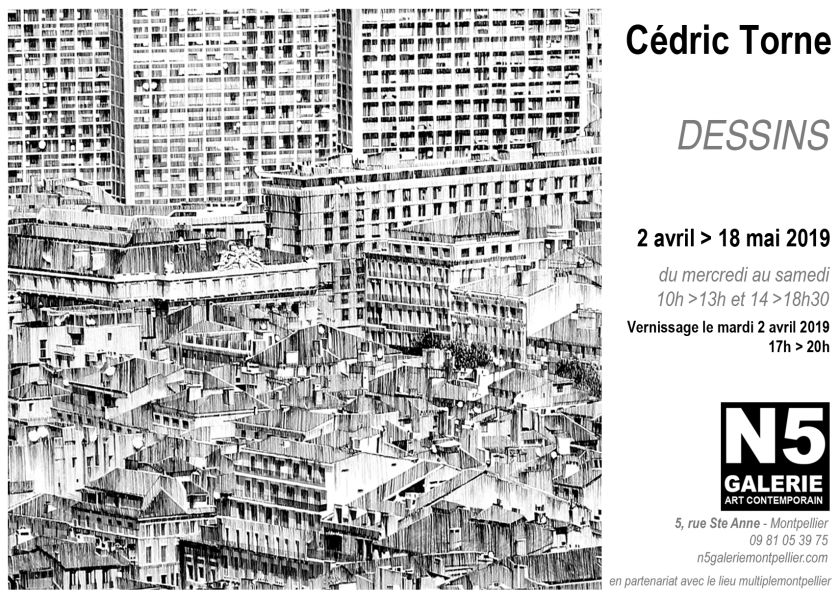 N5 galerie_carton_exposition_Dessins_Cedric Torne_Montpellier_2019